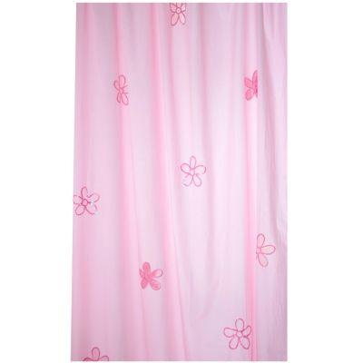 Rideau Fleurs rose (145 x 280 cm)