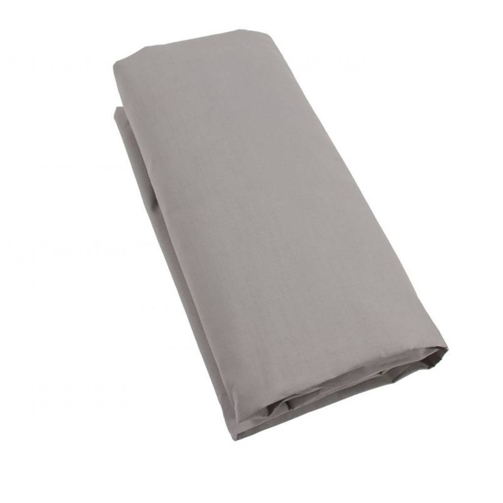 Drap housse uni 100% coton 57fils gris coton