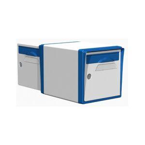 Creastuce Boite aux lettres 2 portes blanche-bleue - CREASTUCE-10-DF