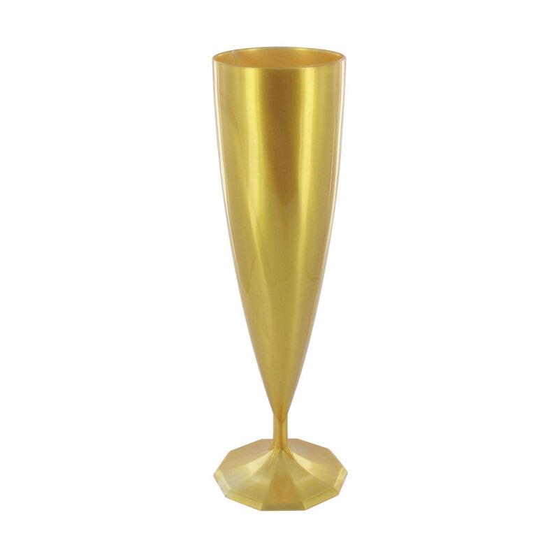 Flûte à champagne monobloc de luxe design or (13 cl) x 10
