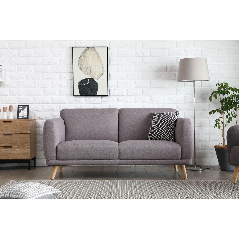 Agatha gris clair : Canapé scandinave 3 places gris clair