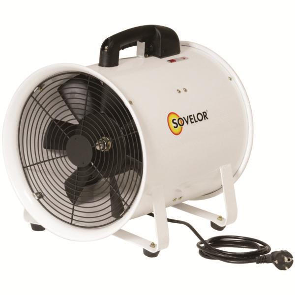 SOVELOR Ventilateur gainable Ø 30 cm portable 230V 520W 3900m³/H