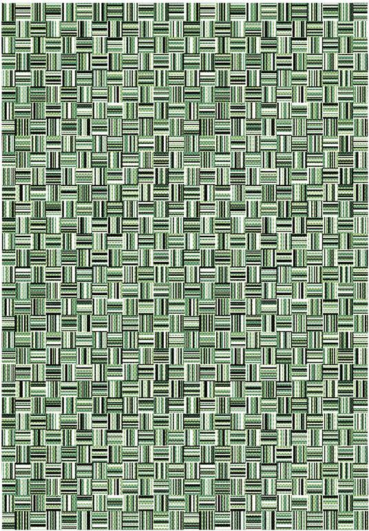 Tapis de jardin - Broc Arty - Tissage vert - 200 x 290 cm