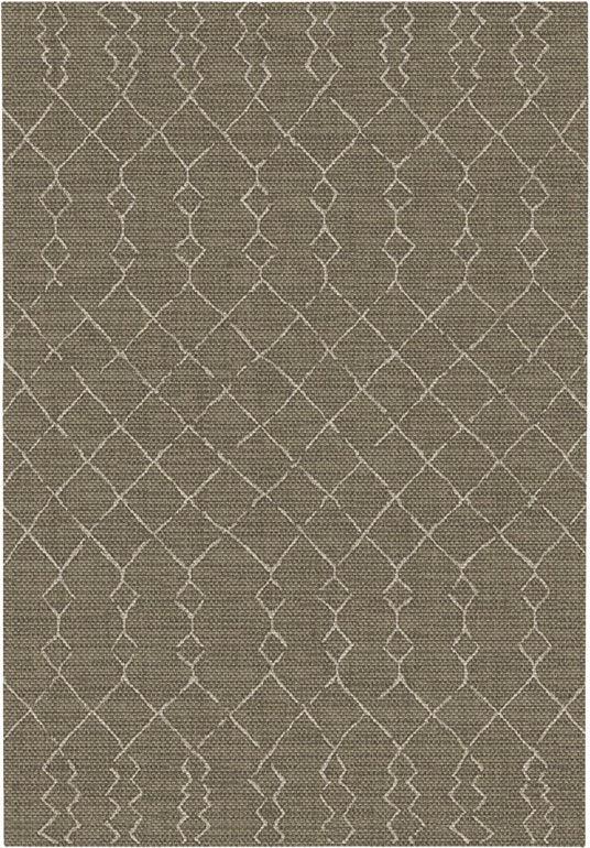 Tapis Salon / Terrasse - Scandinave - Marron foncé - 160 x 230 cm