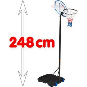 Dema Jeu de basket avec support hauteur maxi 2480 mm - Panier de basket