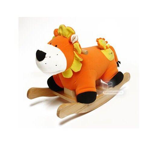 Dema Cheval à bascule Lion orange avec son bébé - hauteur selle 300 mm