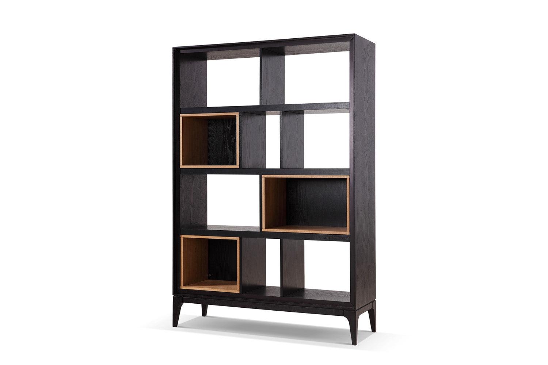 Dewarens Bibliothèque Design Scandinave en bois noire Dewarens Bial