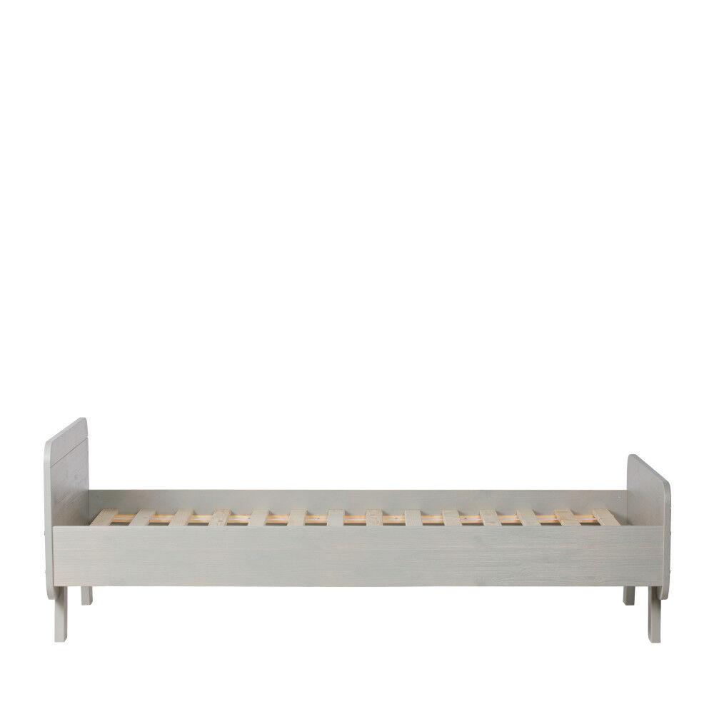 Woood Sammie - Cadre de lit en pin massif 90x200cm - Couleur - Gris clair