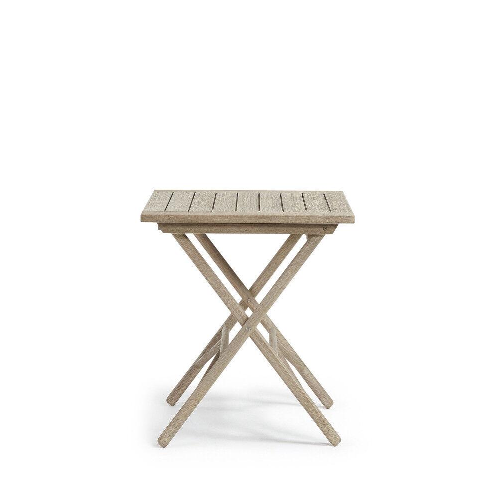 Rowing - Table pliante en bois 70x70 indoor/outdoor - Dimensions - 75x70x70 cm