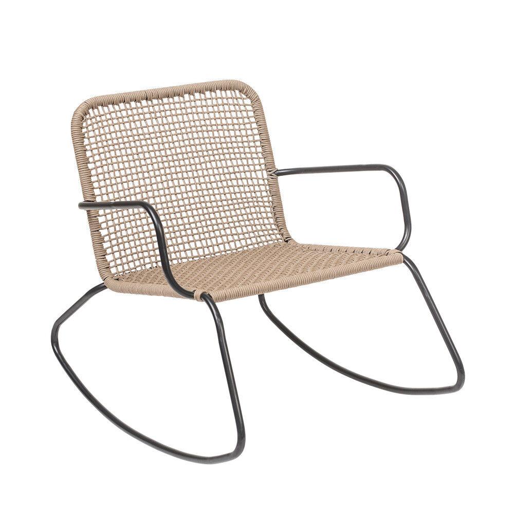 Bloomingville Stenhoj - Rocking Chair en résine - Couleur - Naturel