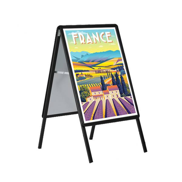 Edimeta Chevalet de trottoir Cadro-Clic® B2 / 70 x 50 cm - NOIR
