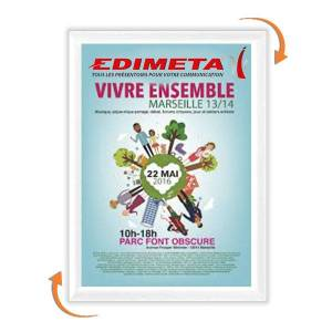 Edimeta Cadre Clic-Clac 80 x 120 cm BLANC