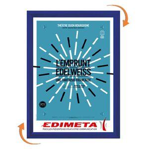 Edimeta Cadre Clic-Clac A5 BLEU