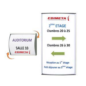 Edimeta Plaque signalétique AluSign® 15 x 15 cm