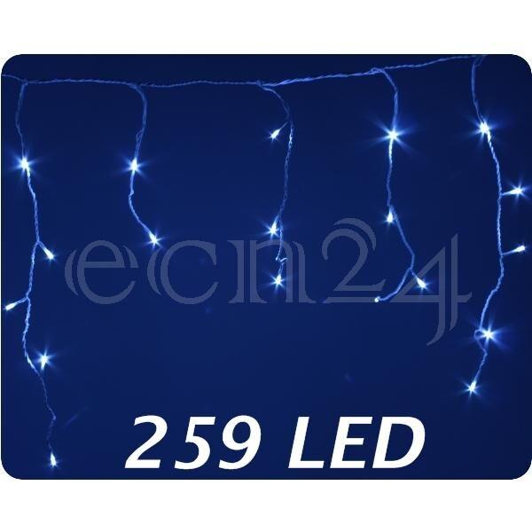 Kaemingk Guirlande lumineuse LED, blanc froid, stalactite 259 LED