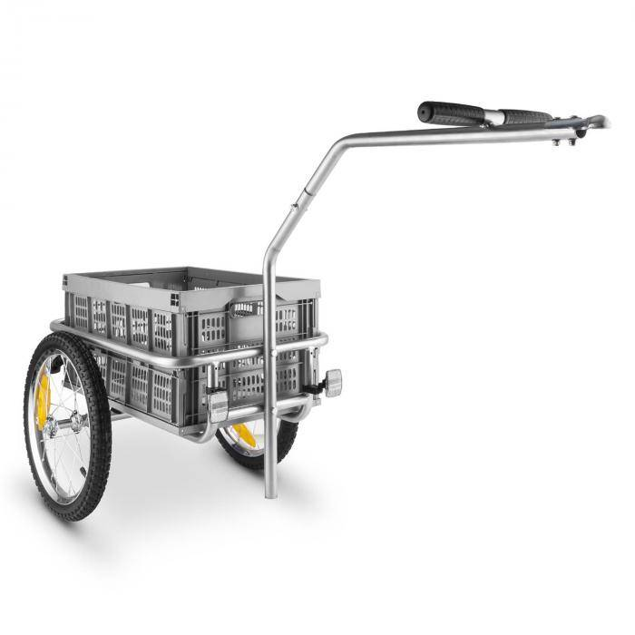 DURAMAXX Bigbig Box attelage vélo ou cariole à main 40L 40kg gris