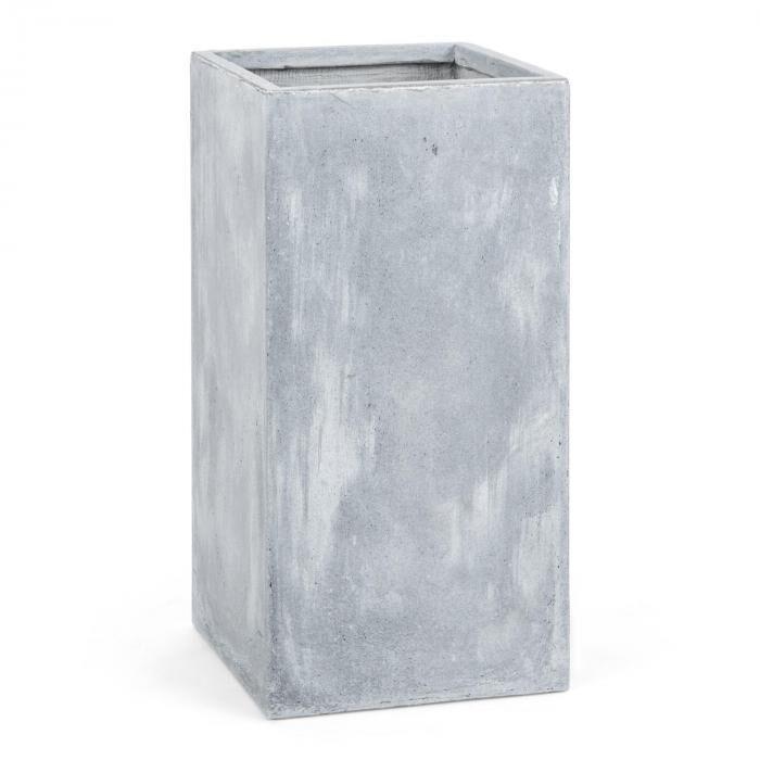Blumfeldt Solidflor Bac à fleurs jardinière 40x80x40 cm Fiberton -gris clair