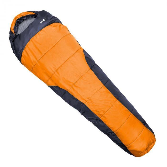 KLARFIT Gullfoss Sac de couchage 230x80x55cm 2 couches orange