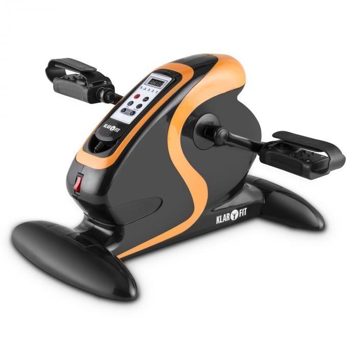 KLARFIT MiniBike Appareil d'entraînement moteur 120 kg télécommande noir/orange