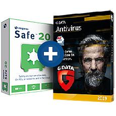 STEGANOS Pack Steganos Safe 20 - Licence 5 PC + G DATA Antivirus - 5 postes - Abonnement 1 an