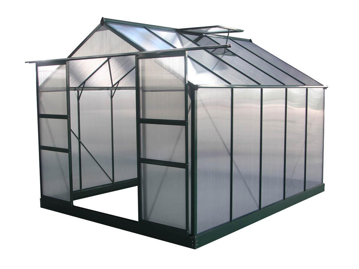Habitat et Jardin Serre jardin polycarbonate Dahlia Vert Sapin 7,67 m²