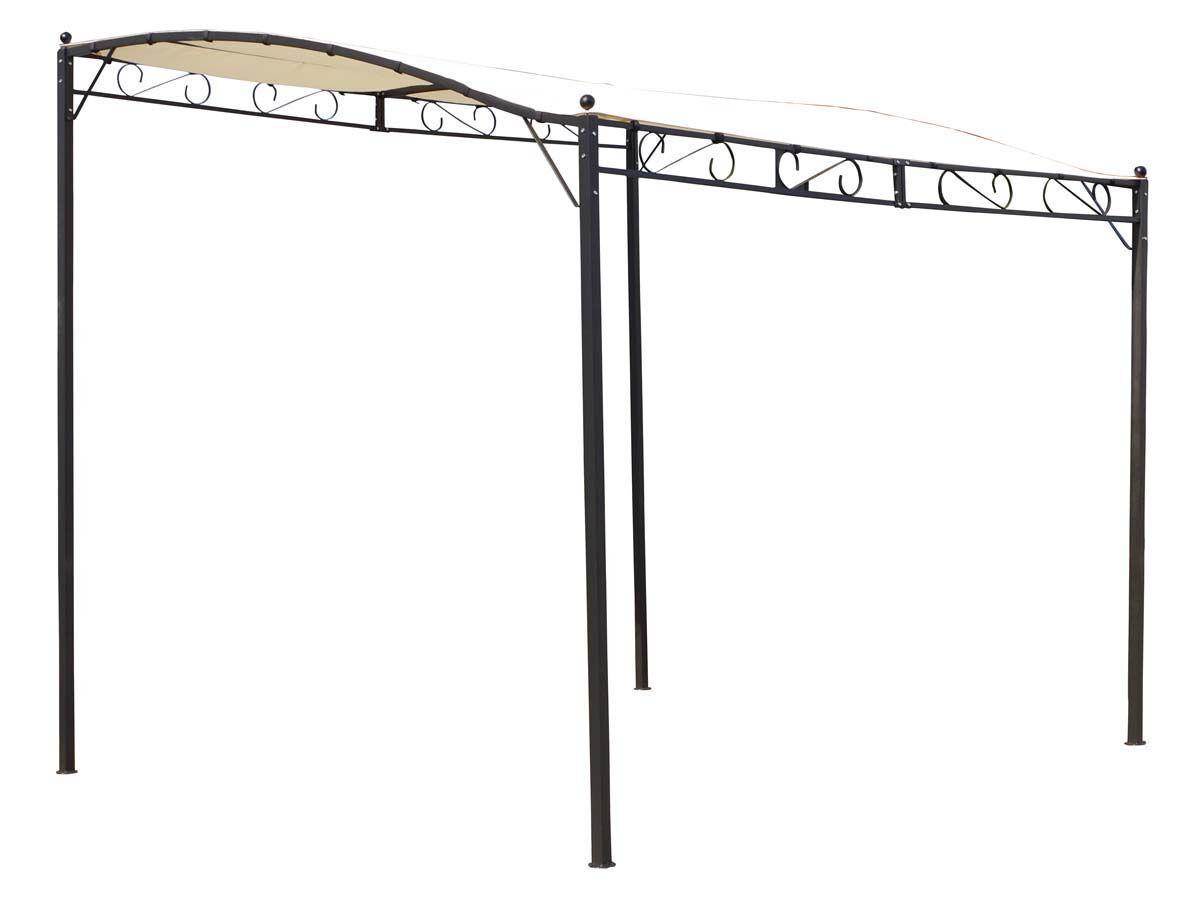 Habitat et Jardin Tonnelle adossée Lisa beige en acier - 3 x 2.5 x 2/2.5 m