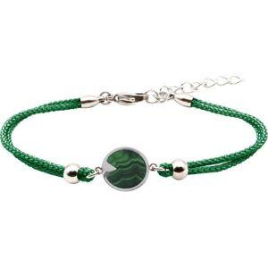 Bijoux Bracelet Fer à Cheval Malachite - LABISE