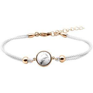 Bijoux Bracelet Coton Cabochon Howlite - LABISE