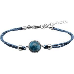 Bijoux Bracelet Coton Cabochon Chrysocolle - LABISE
