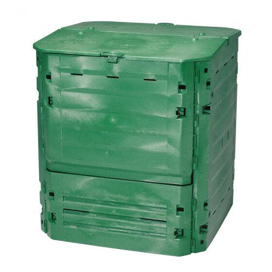 Jardin et Saisons Composteur en plastique 600 litres vert