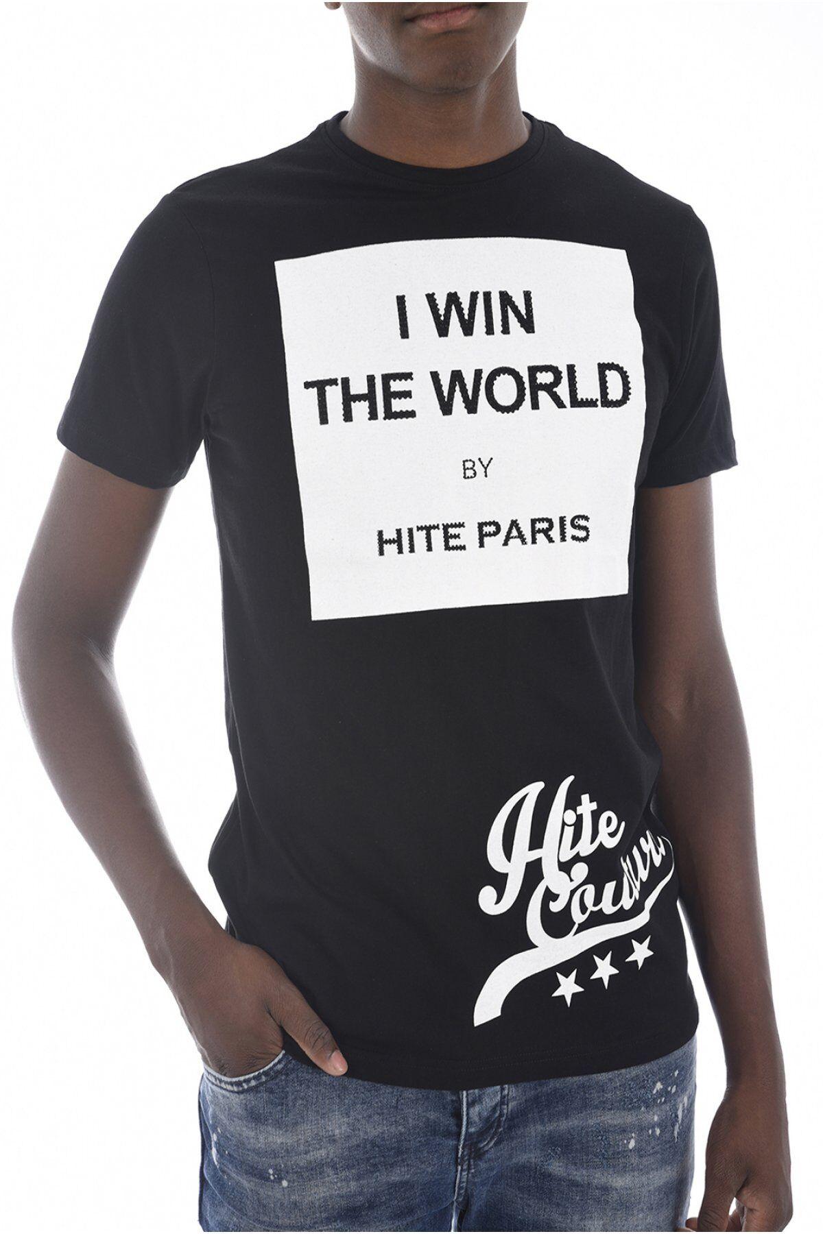 Hite couture Tee Shirt Coton Printé & Strassé Meriver  -  Hite Couture