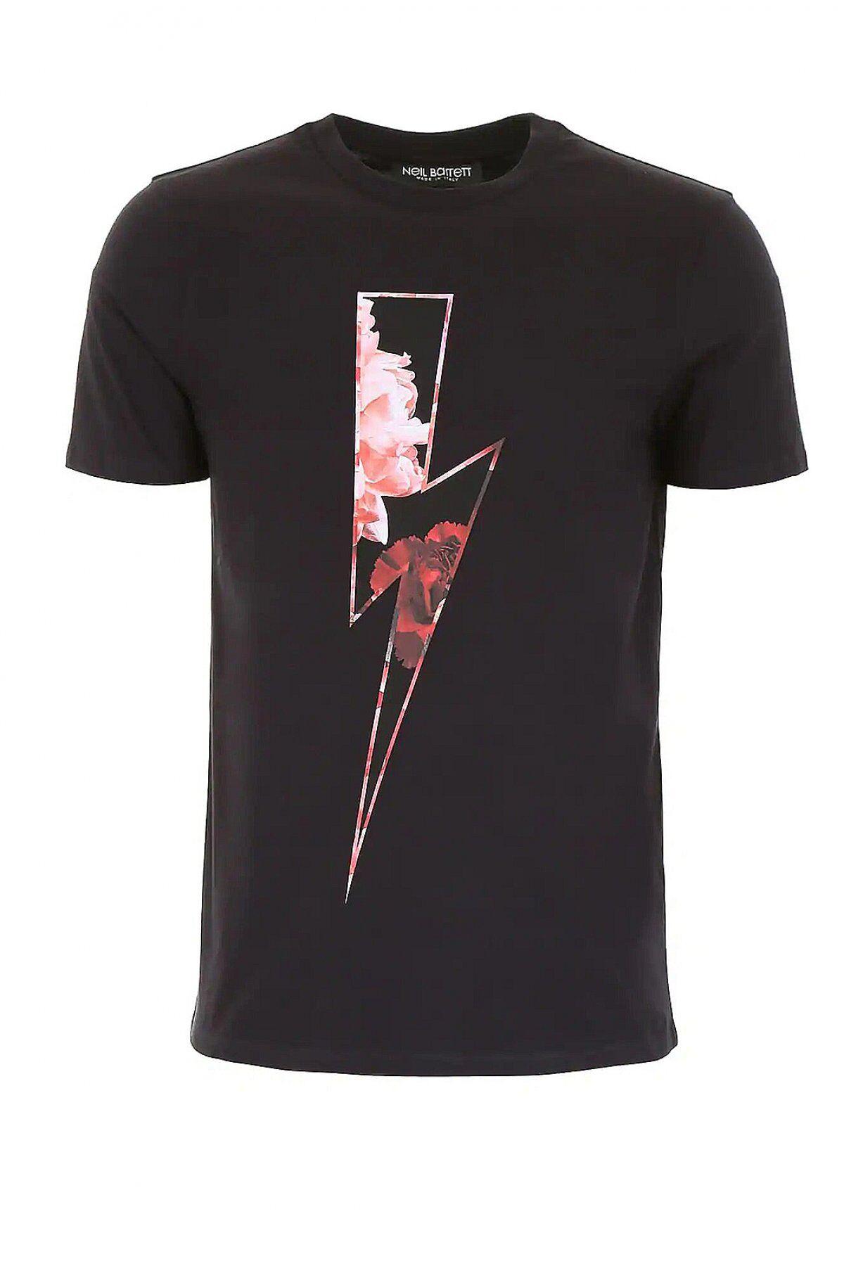 Neil Barrett Tee Shirt Stretch Avec Motif   -  Neil Barrett