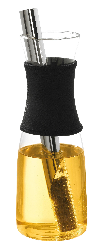 KUSMI TEA Carafe à thé en verre avec infuseur - Noir