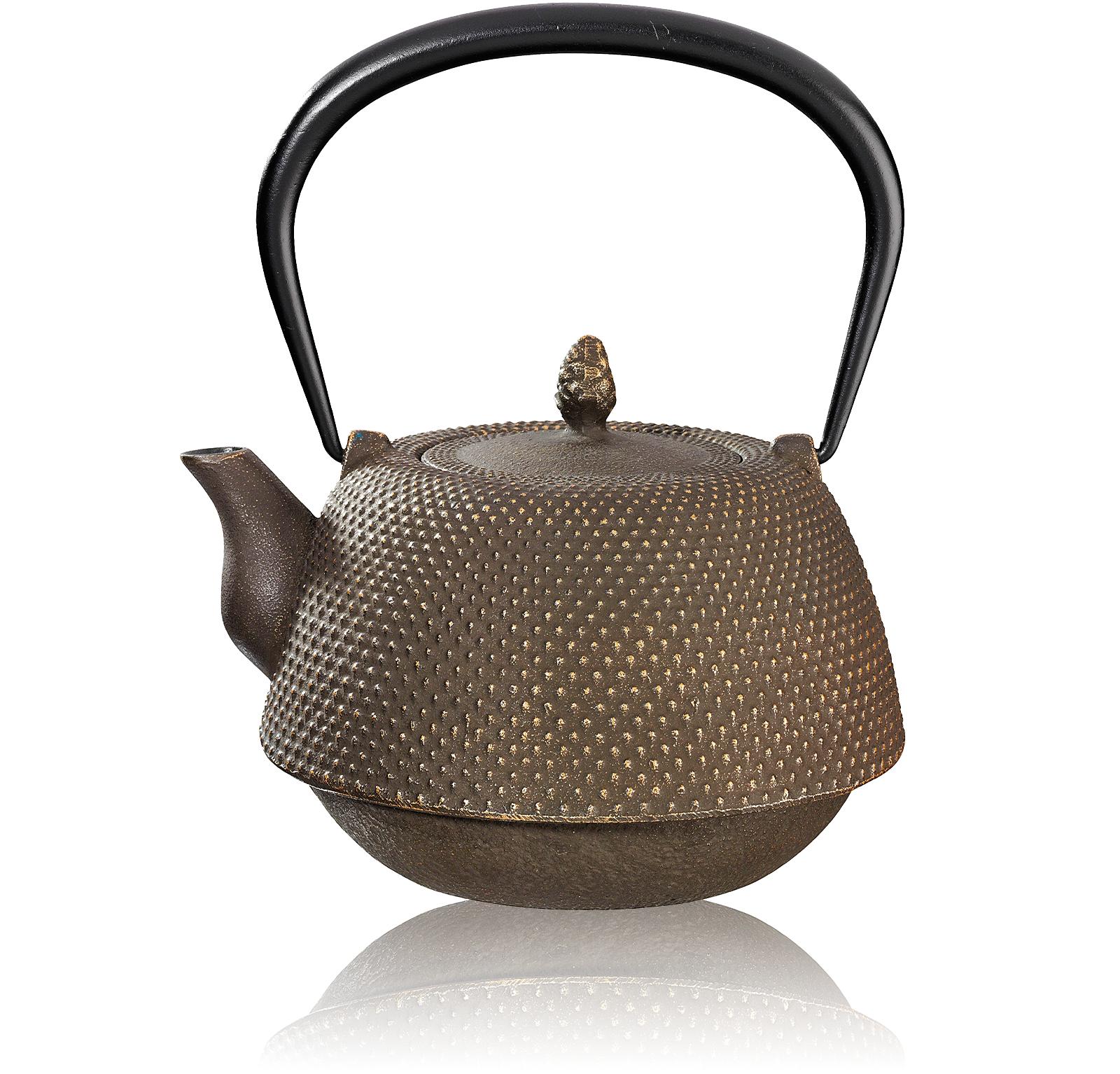 KUSMI TEA Théière fonte 0,95L Nanbu marron doré