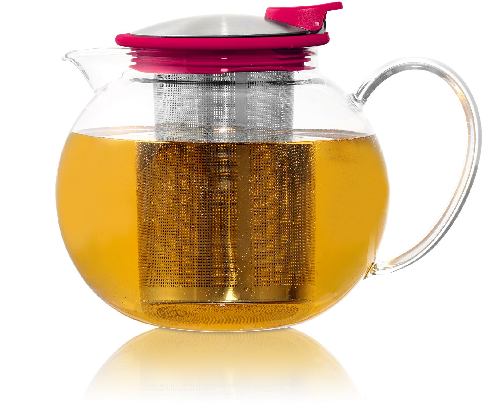 KUSMI TEA Théière Bola en verre avec filtre et couvercle 1,1L