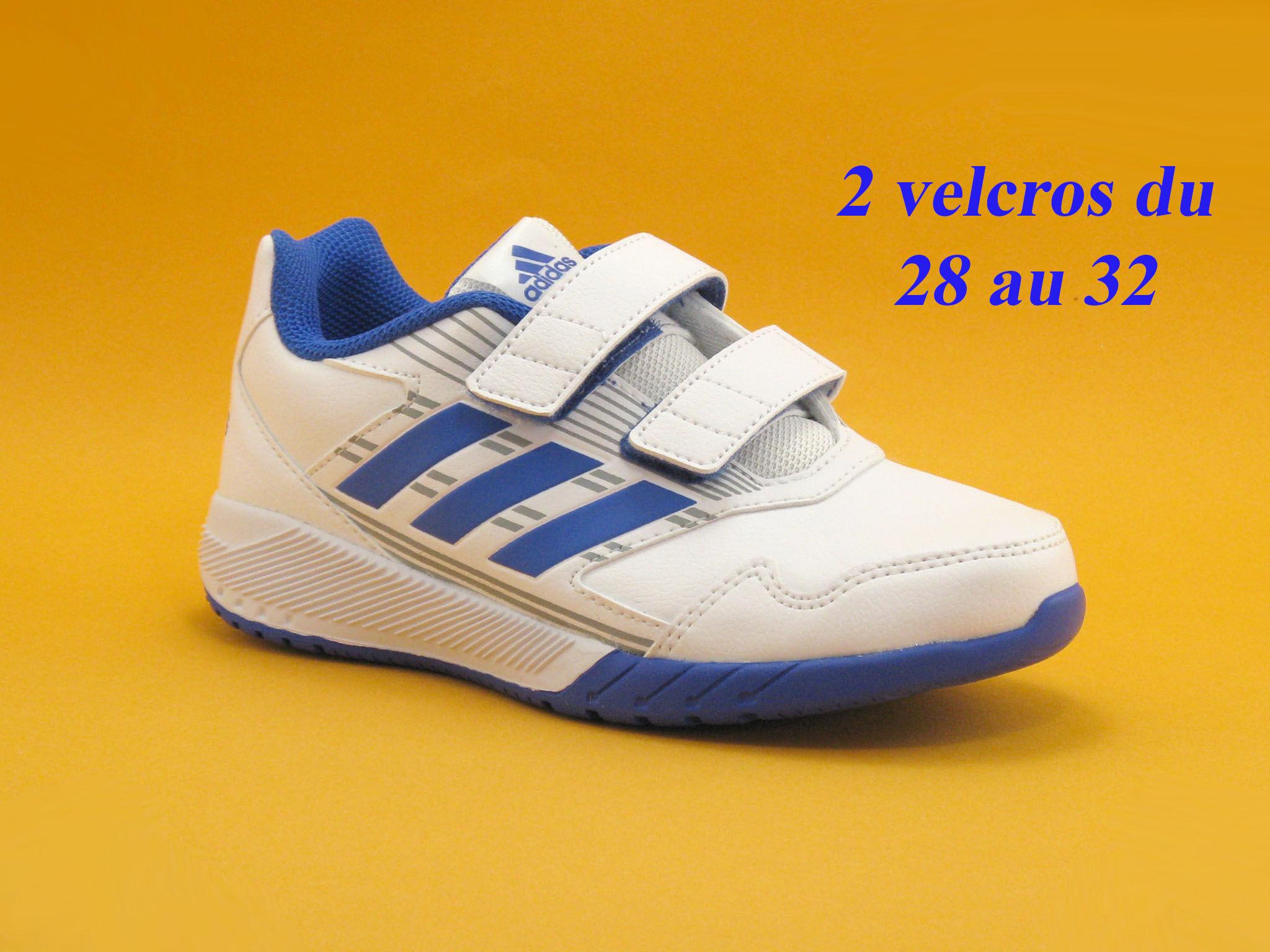 Adidas Basket Enfant Adidas - Blanc,Bleu - Point. 28,29,30,31,32,33,34,35,36
