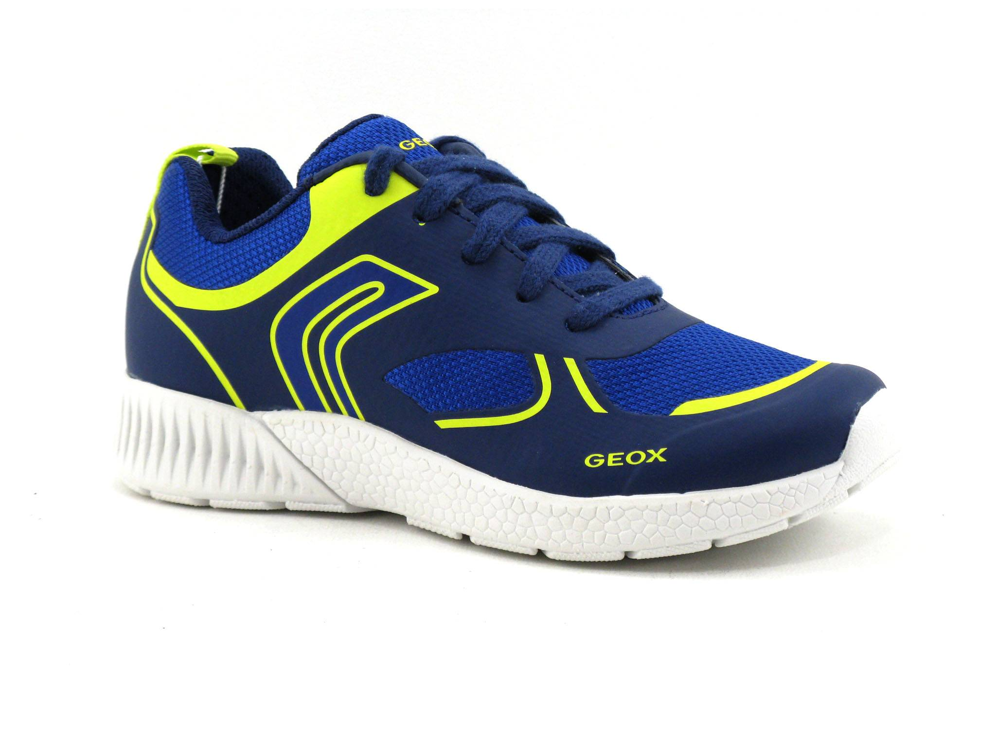 Geox Basket Enfant Geox - Bleu,Jaune - Point. 28,29,30,31,32,33,34,35