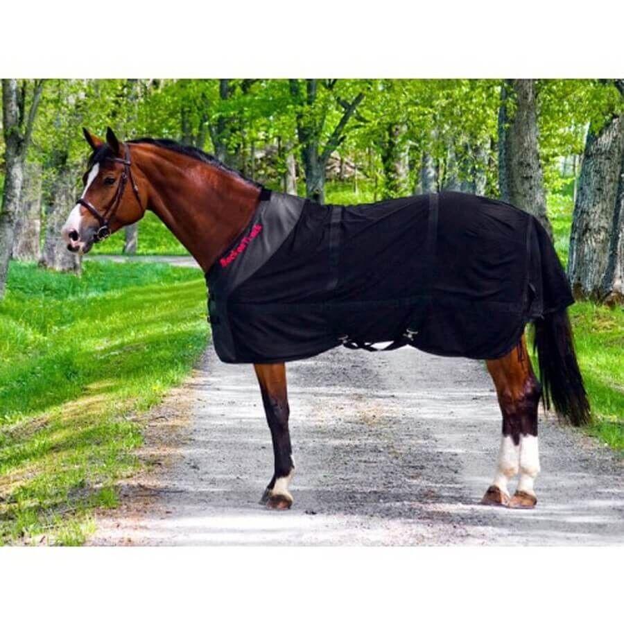 Back On Track Chemise Filet pour Cheval noir 155 cm