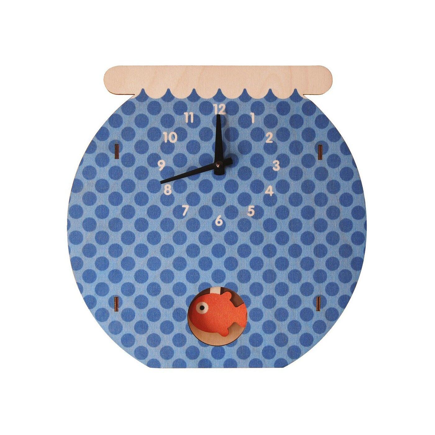 Modern Moose Horloge Murale à Balancier Fishbowl pour Enfants Modern Moose
