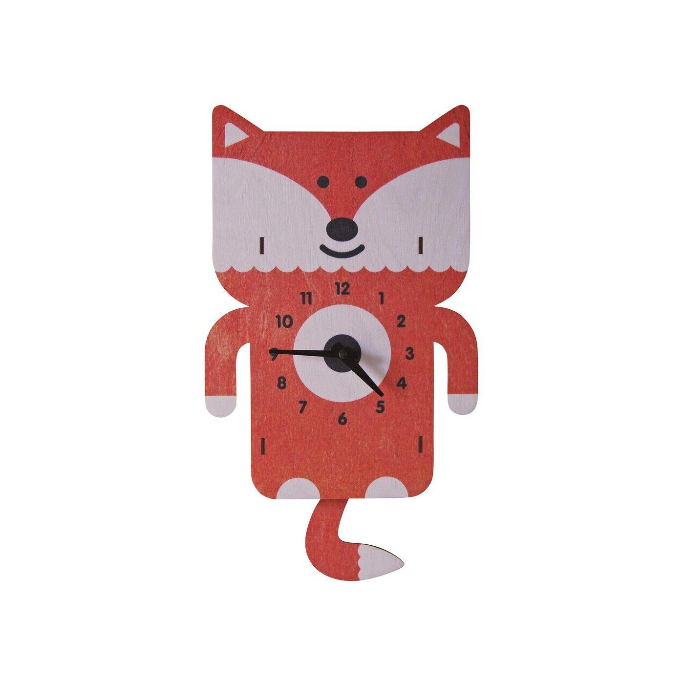 Modern Moose Horloge Murale à Balancier Fox pour Enfants Modern Moose