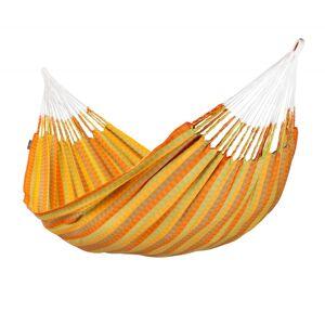 LA SIESTA Hamac classique double en coton jaune et orange
