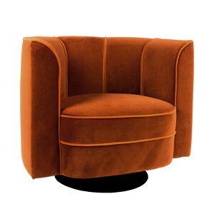 Dutchbone Fauteuil lounge en velours orange