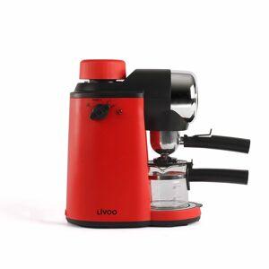 Livoo Machine  café expresso en plastique rouge