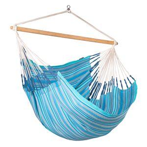 LA SIESTA Chaise-hamac kingsize en coton bio bleu