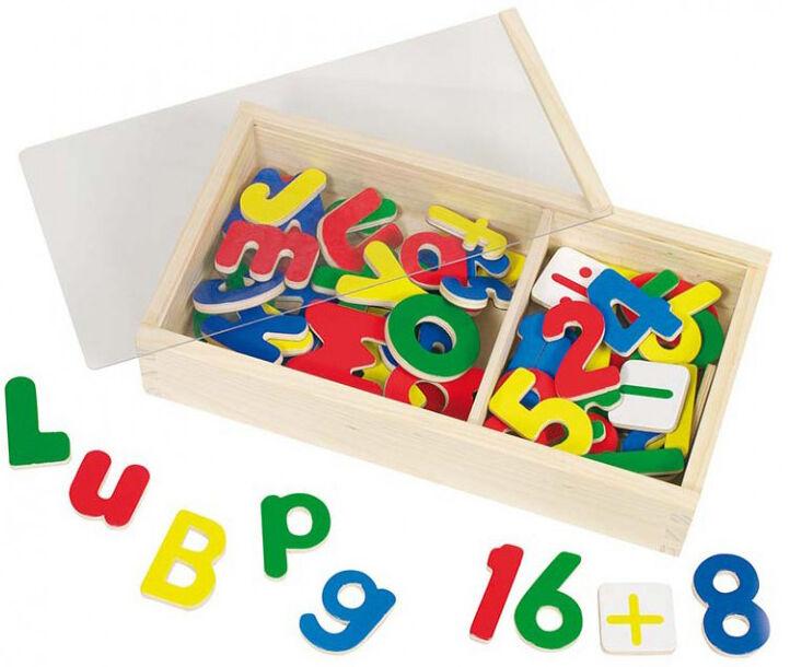 GOKI Boîte de lettres et chiffres aimantés 89 pièces - GOKI