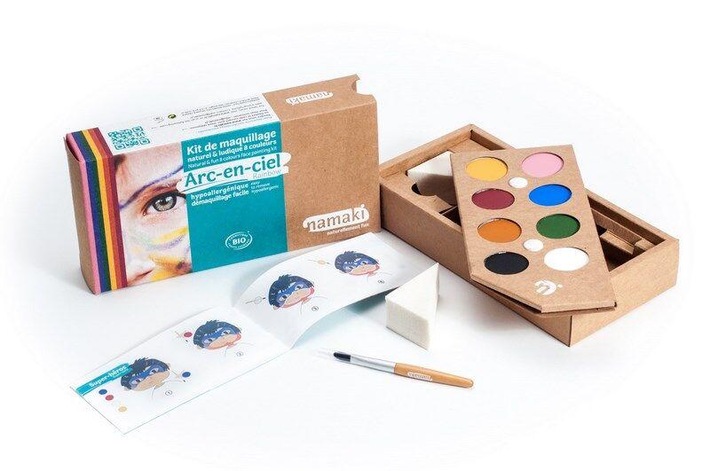 NAMAKI Kit de Maquillage 8 couleurs Arc-en-ciel - NAMAKI