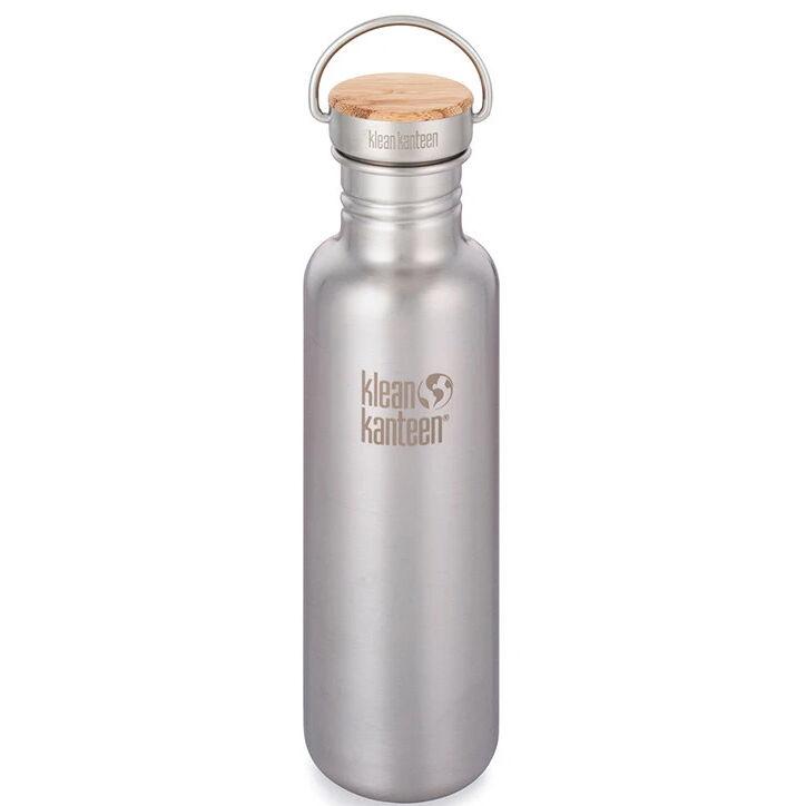 KLEAN KANTEEN Gourde Inox Reflect 800 ml Brusched Stainless bouchon inox et bambou - KLEAN KANTEEN