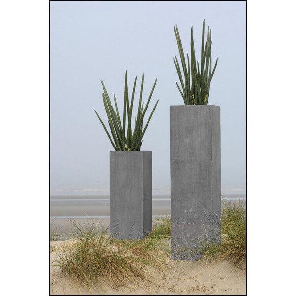 MATHI DESIGN Jardinière colonne Rockstone Gris