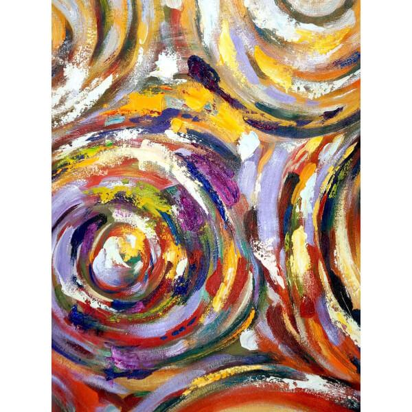 MATHI DESIGN Tableau abstrait Ondes Multicolore