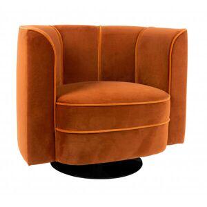 Dutchbone FLOWER - Fauteuil art déco en velours orange Orange